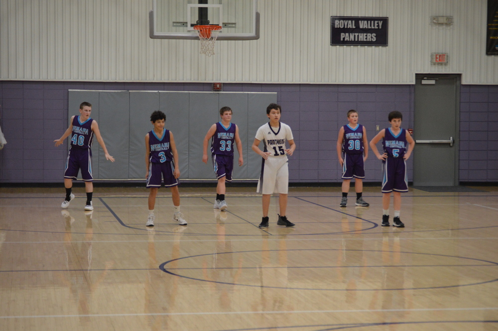 NCMS Boys Basketball Challenges Royal Valley