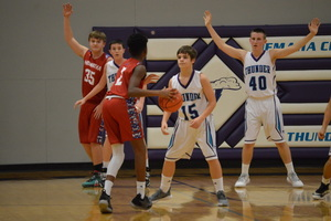NCMS Boys Basketball Team Challenged by Hiawatha