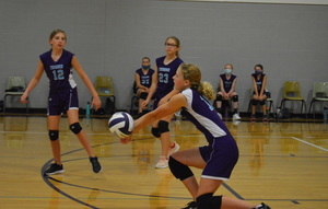 NCMS Volleyball Competes Well with Jeff West