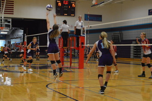 NCMS Volleyball Goes Up Against Hiawatha