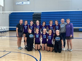 NCMS Thunder Volleyball Eighth Grade Places Second in League Tourney