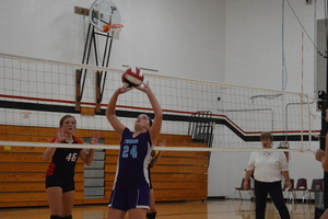 NCMS Volleyball Team Opens Season at Jeff West