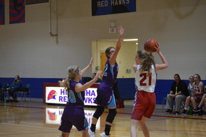 NCMS Girls Basketball Team Battles Hiawatha