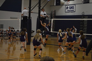 NCMS Volleyball Plays Against County Rivals, Sabetha