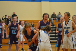 NCMS Lady Thunder Basketball Teams Defeat Sabetha
