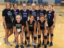 NCMS 8th Grade Volleyball Takes Second in the  Holton Tournament