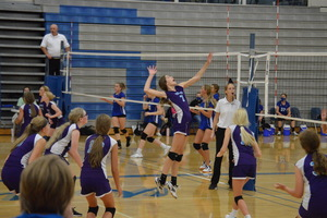 NCMS Volleyball Faces Tough Opponent