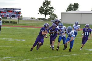 NCMS Football Roll Over the Wildcats