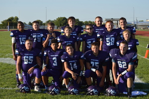 NCMS Football Smoke Perry-Lecompton in First Football Game