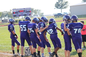 NCMS Football Team Battles the Heat