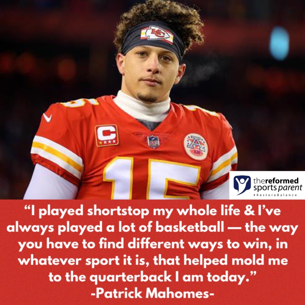 Patrick Mahomes emphasizes the importance of being multisport athlete
