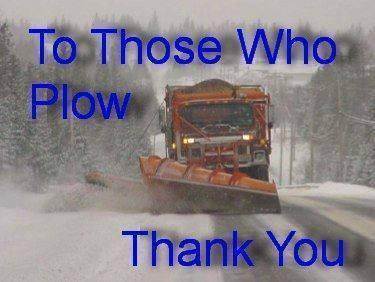 Thank to those who plow