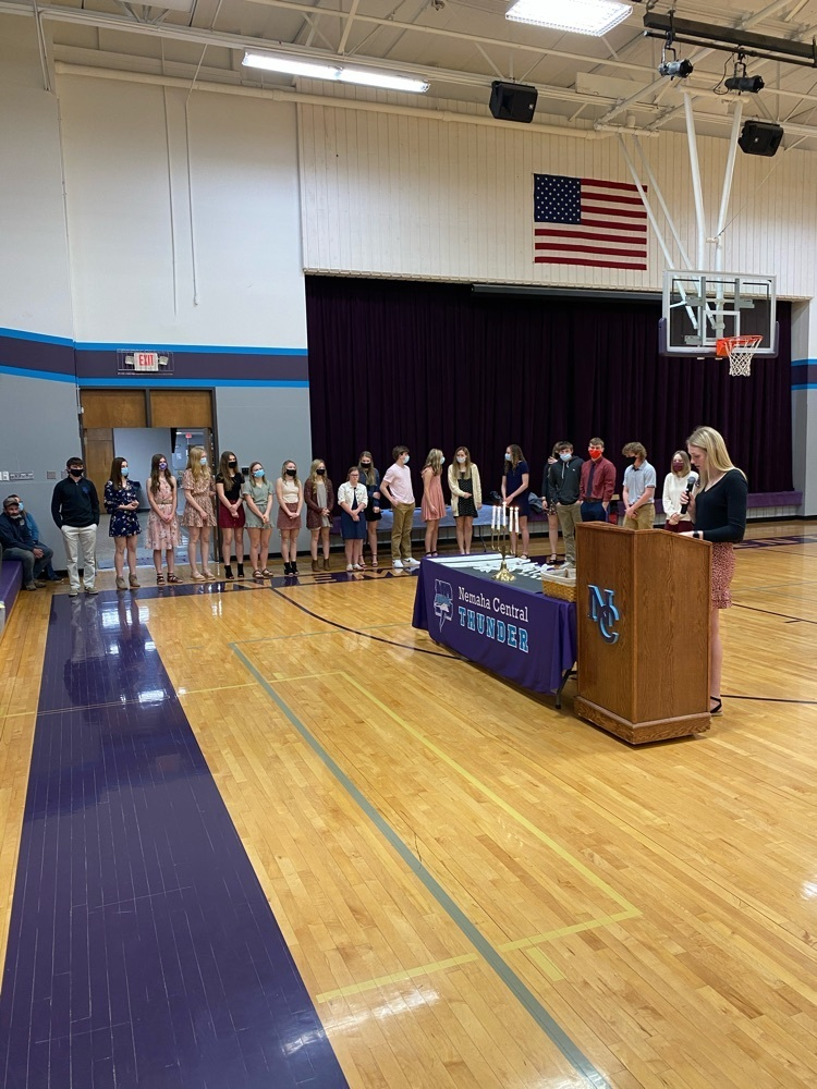 NCHS National Honor Society induction