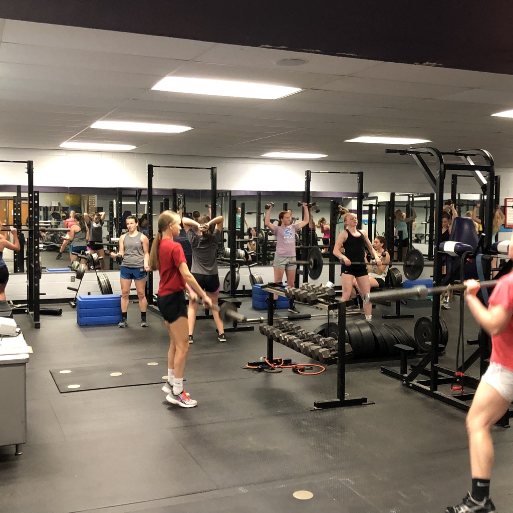 @nchsthunder female athletes working hard in the weight room!