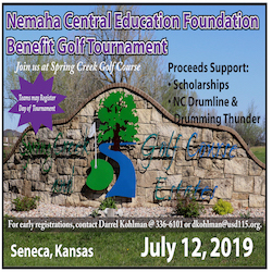 Foundation Golf Tournament ad July 12, 2019