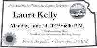 Gov. Kelly visit June 24, 2019 6 pm Community Building