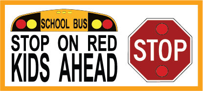 Stop on RED Kids Ahead