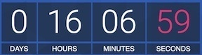 16 hours 6 minutes and 59 seconds left before school starts