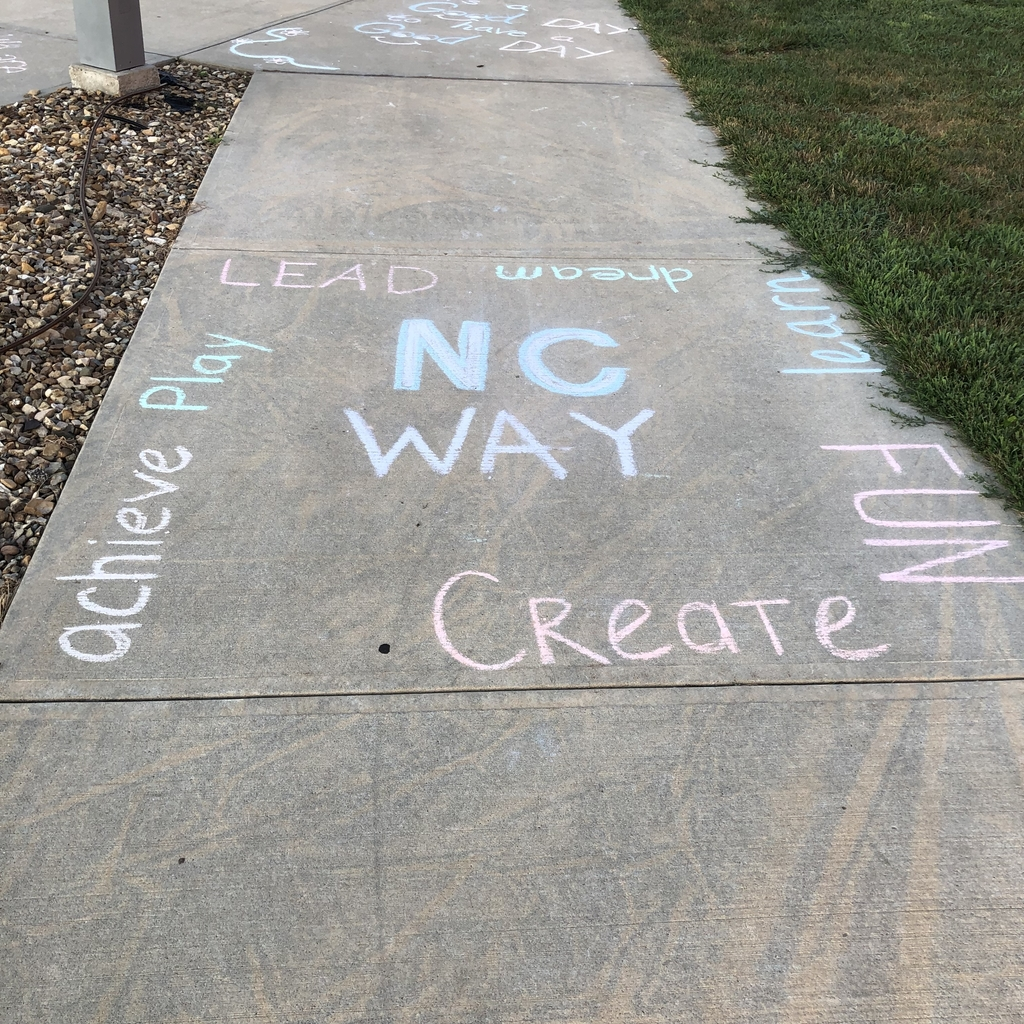 NC Way sidewalk chalk message