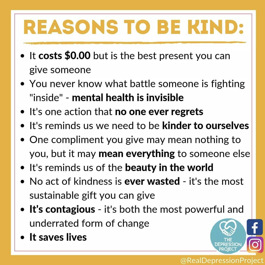 Reasons to be kind