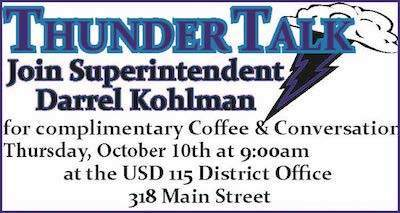 Thunder Talk 9/10/19 District Office 318 Main St.