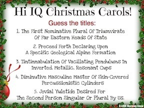 Hi IQ Christmas Carols