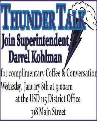 Thunder Talk, Jan. 8th 9 am District Office