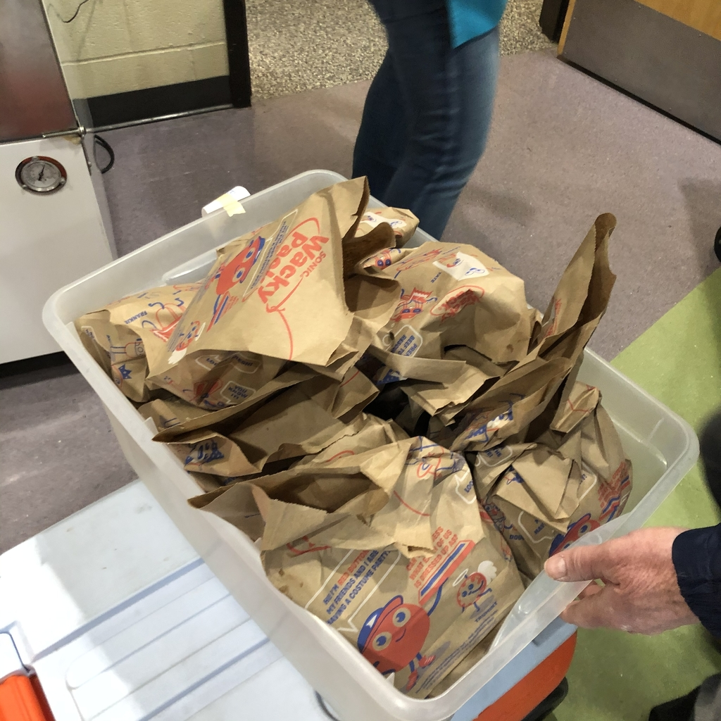 Lunches served in donated bags from Sonic
