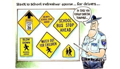 Back to school refresher course for drivers.