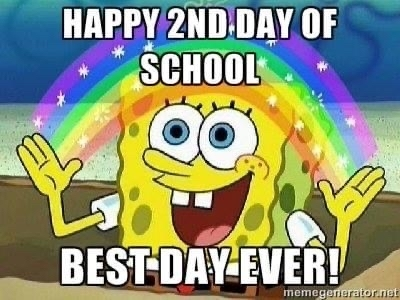 Happy Second Day of School!